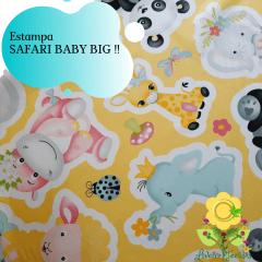Tecido Estampado Tricoline SAFARI BABY BIG ( PREÇO DE MEIO METRO )