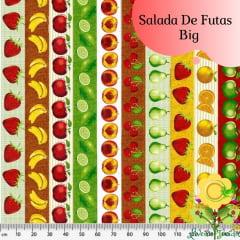 Tecido Tricoline Estampado SALADA DE FRUTAS BIG (PREÇO DE MEIO METRO )